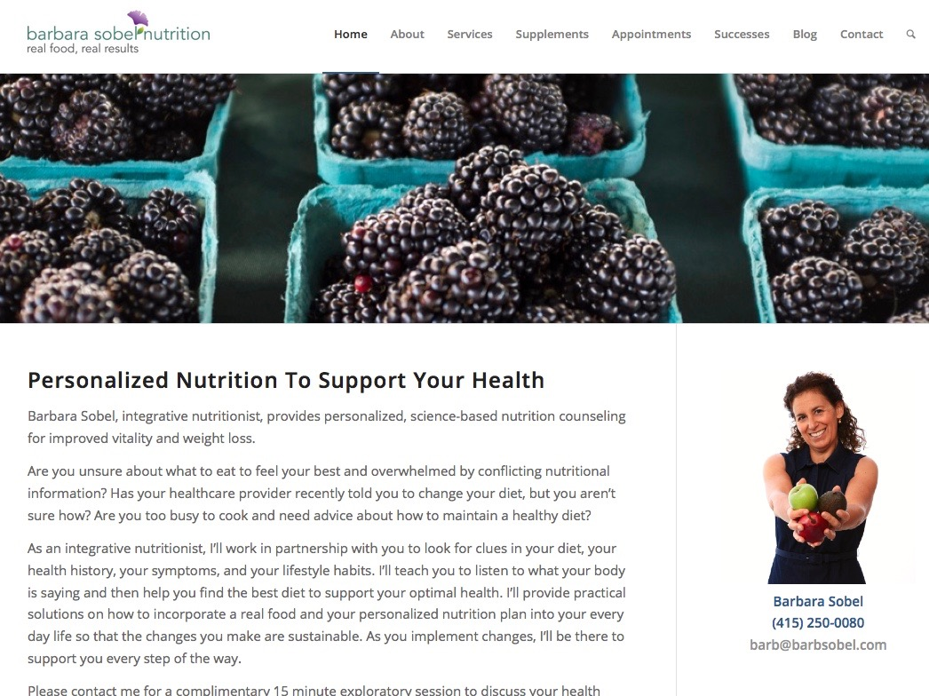 SEO and Content for Integrative Nutritionist Barb Sobel