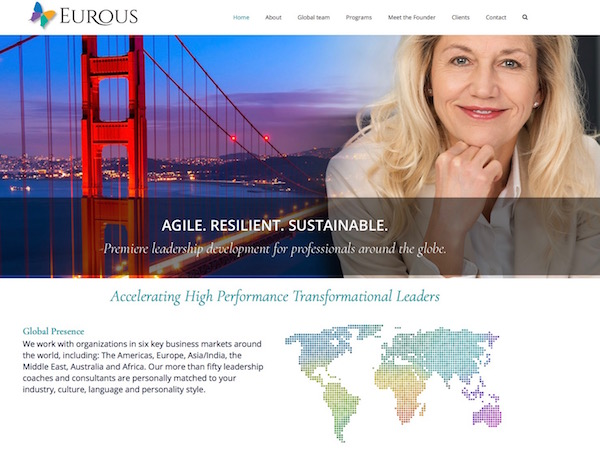 Leadership Consultant firm website content
