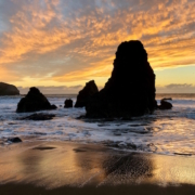 Rodeo Beach Sunset Marin Headlands